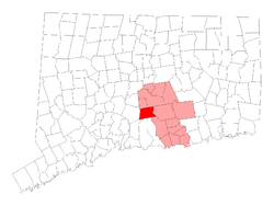 Location within Middlesex County, کنیکٹیکٹ