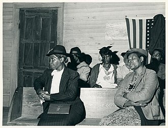 Black church - Church goers in Heard County, Georgia, 1941.
