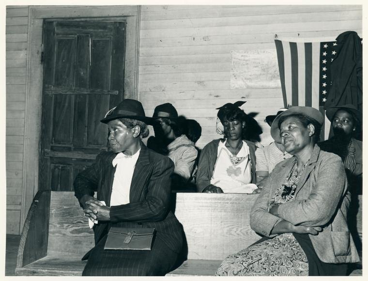 During the church service at a Negro church in Heard County,... (3110583408)