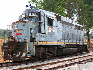 EMD GP30 - An EMD GP30 originally owned by the Louisville and Nashville Railroad -- Oak Ridge, TN.
