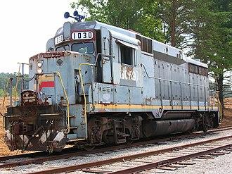 EMD GP30 - An EMD GP30 originally owned by the Louisville and Nashville Railroad -- Oak Ridge, TN.