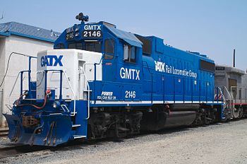 EMD GP38-2 locomotive GMTX 2146, owned by GATX...
