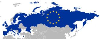 Russia–European Union relations - Image: EU Russia territory