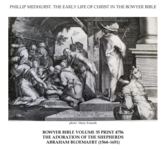 Early life of Christ in the Bowyer Bible print 6 of 21. adoration of Jesus by the shepherds. Bloemaert.png