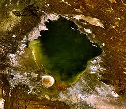 Image satellite du lac Abbe.