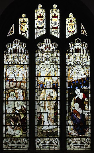 St Mary's Church, Attenborough - Image: East window, St Mary's Church, Attenborough