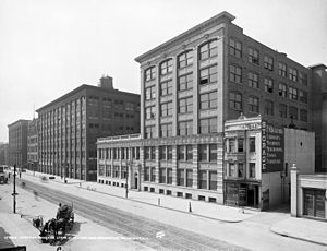 History of New York (state) - Companies such as Eastman Kodak (Rochester headquarters pictured ca. 1900) epitomized New York's manufacturing economy in the late 19th century.