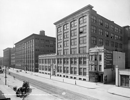 The Kodak factory and main office in Rochester, circa 1910 Eastman Kodak HQ 1900.jpg