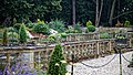 Easton Lodge Gardens, Little Easton, Essex, England ~ sunken garden pool balustrade 01.jpg