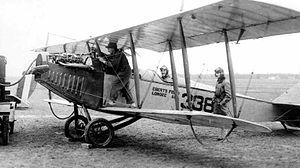 "Eberts Field - Refueling a Curtiss JN-4 ""Jenny"", 1918"