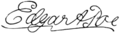 Edgar Allan Poe; a centenary tribute - signature.png
