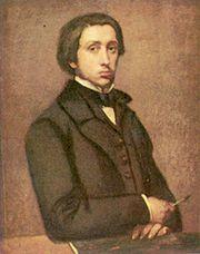 Self-portrait (Degas au porte-fusain), 1855,  by Edgar Degas