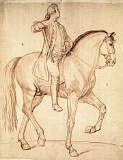 Edmé Bouchardon - Study for the Equestrian Statue of Louis XV - WGA02875