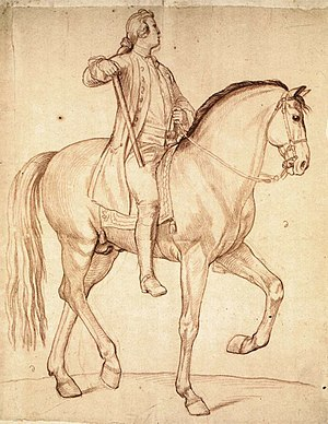 Edmé Bouchardon - Image: Edmé Bouchardon Study for the Equestrian Statue of Louis XV WGA02875