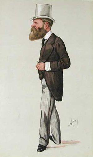 "Edward Birkbeck - ""the fisherman's friend"" Birkbeck as caricatured by Ape (Carlo Pellegrini) in Vanity Fair, August 1885"
