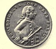 Edward BoscawenLouisbourgMedal