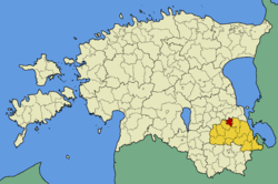 Ahja Parish within Põlva County.