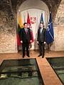 Eesti välisminister Sven Mikser ja Leedu kaitseminister Raimundas Karoblis (31457177593).jpg