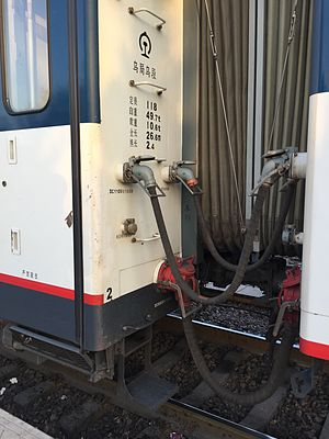 Head-end power - Connection cables between two China Railways 25T coaches