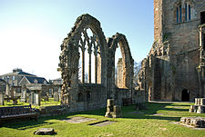 Elgin Cathedral south aisle windows.jpg