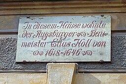 Elias Holl Wohnhaus Tafel