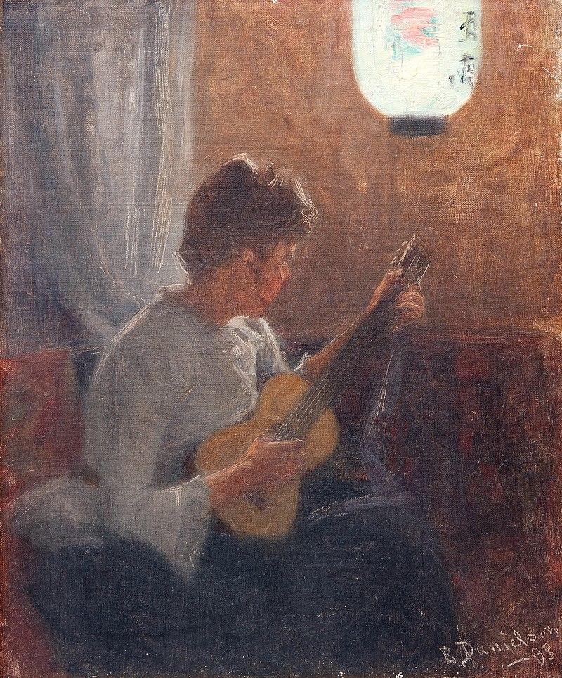 Elin Danielson-Gambogi - Moment for music (1893).jpg