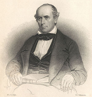 Elisha Mitchell - Portrait of Rev. Elisha Mitchell, 1858