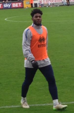 Ellis Harrison - Harrison warming up for Bristol Rovers in 2015