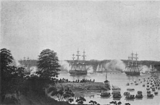 1823 in Sweden - Embarkation off Manilla 1823