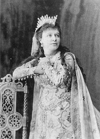 Emma Albani - Albani as Elisabeth in Tannhäuser.