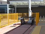 End of the line (Green Line west) at Airport station, Aug 15.jpg