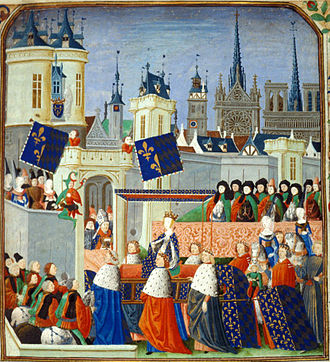 Isabeau of Bavaria - Miniature showing Isabeau's entry in Paris on 23 August 1389
