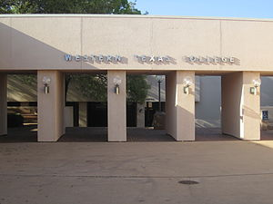 Western Texas College - Entrance to Western Texas College in Snyder, Texas