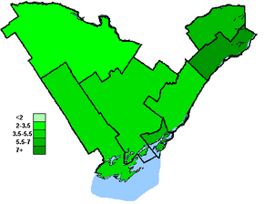 Canadian federal election results in Eastern Ontario - Green Party of Canada