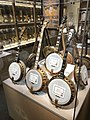 "Epiphany banjos at the American Banjo Museum, ""Recording"", ""Concert Deluxe"", ""Dragon Emperor"", ""Recording Dragon Custom"".jpg"