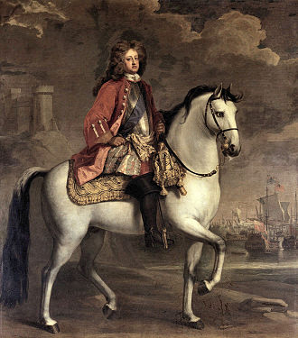 Prince George of Denmark - George on horseback, painted by Michael Dahl, 1704