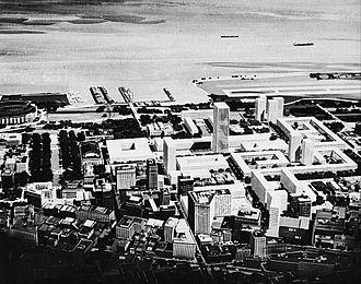 Erieview Tower - The original Erieview urban renewal plan