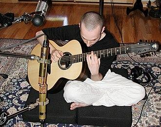 Equilibrium (Erik Mongrain album) - Erik Mongrain while recording the album Equilibrium at Paul Reed Smith's personal studio.