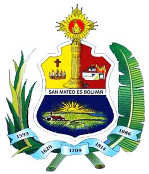 San Mateo, Aragua - Image: Escudo bolivar aragua