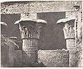 Esneh (Latopolis), Construction Ensablée - Architrave, Futs, et Chapiteaux MET DP138587.jpg