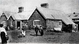 Ferrocarriles Patagónicos - Trelew station, c. 1900.