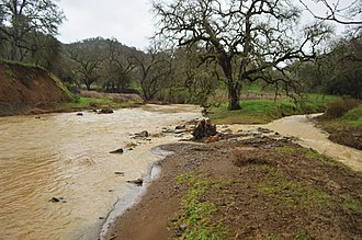 Eticuera Creek - The turbulent waters of Eticuera Creek after a large storm, February 2017