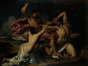 The Combat: Woman Pleading for the Vanquished - Image: Etty – The Combat