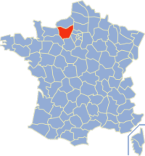 Communes of the Eure department - Image: Eure Position