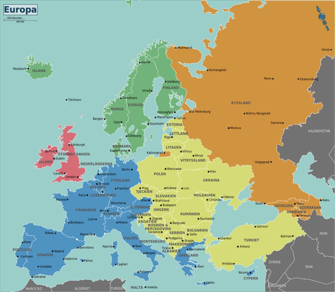 Europe: File:Europe Regions(sv).png