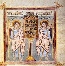 Evangéliaire de Trèves fol10r - incipit avec deux anges.jpg