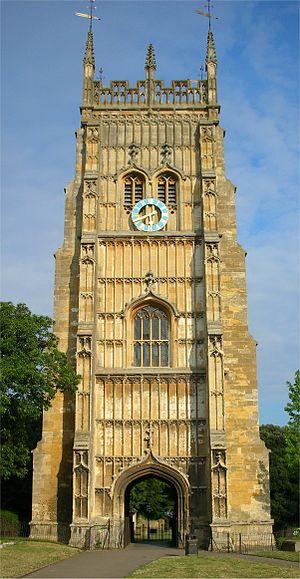 Evesham Abbey - Evesham Abbey bell tower