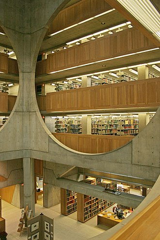 Louis Kahn - Interior of Phillips Exeter Academy Library, Exeter, New Hampshire (1965–72)
