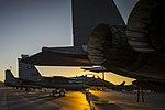 F-15E Strike Eagles rest on the flightline at Los Llanos Air Base (29859577671).jpg
