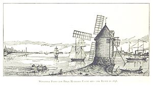 Bela Hubbard - Windmill Point at Bela Hubbards farm in 1838